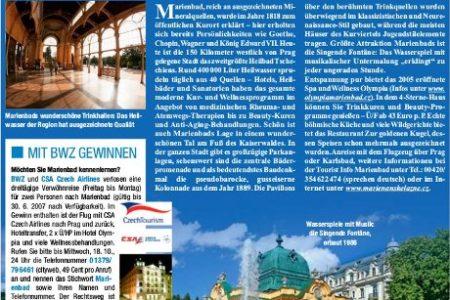 Abbildung: Czech Tourism Veröffentlichung