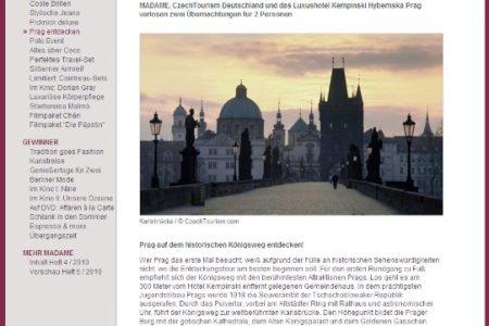 Screenshot: Veröffentlichung für Czech Tourism