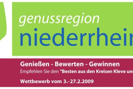 Abbildung: Teilnahmekarte für Regionalwettbewerb der Genussregion Niederrhein