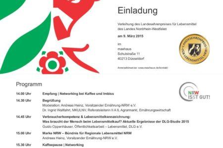 Abbildung: Einladung Landesehrenpreis NRW