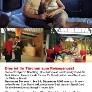 Abbildung: Kooperation DB Nachtzug Best Western