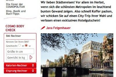 Screenshot: Medienkooperation für Design-Kampagne der Rezidor-Hotelgruppe