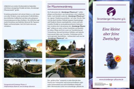 Abbildung: Folder für die Stromberger Pflaume g. U.